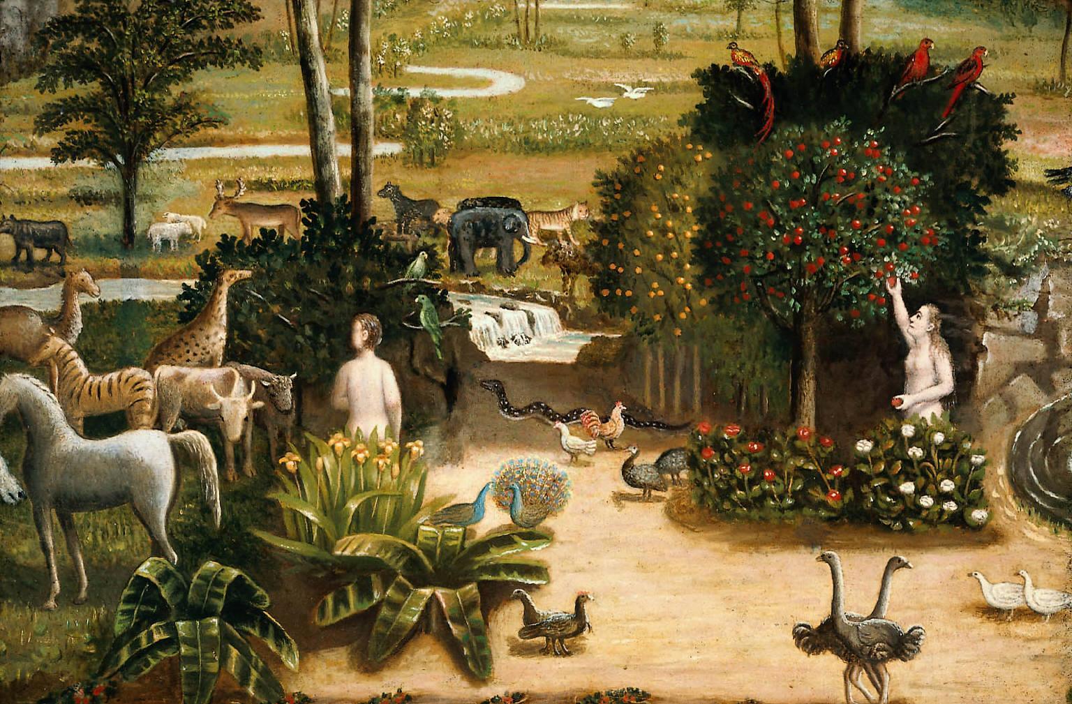 Erastus Salisbury Field – The Garden of Eden [c.1860] | Gandalf\'s ...