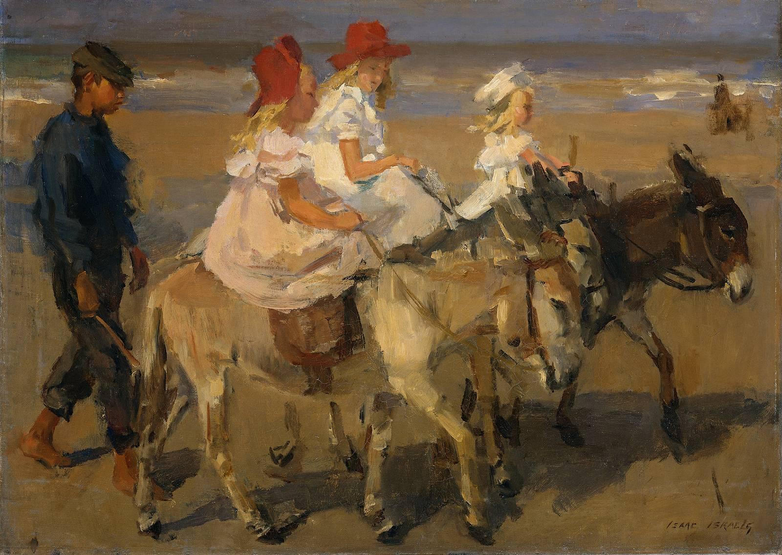 Paintings of Seaside Scenes Seaside Scene Around 1900